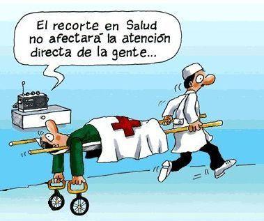 Recortes en salud (Humor gráfico)